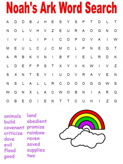 Free Printable Children's Bible Word Search Puzzles