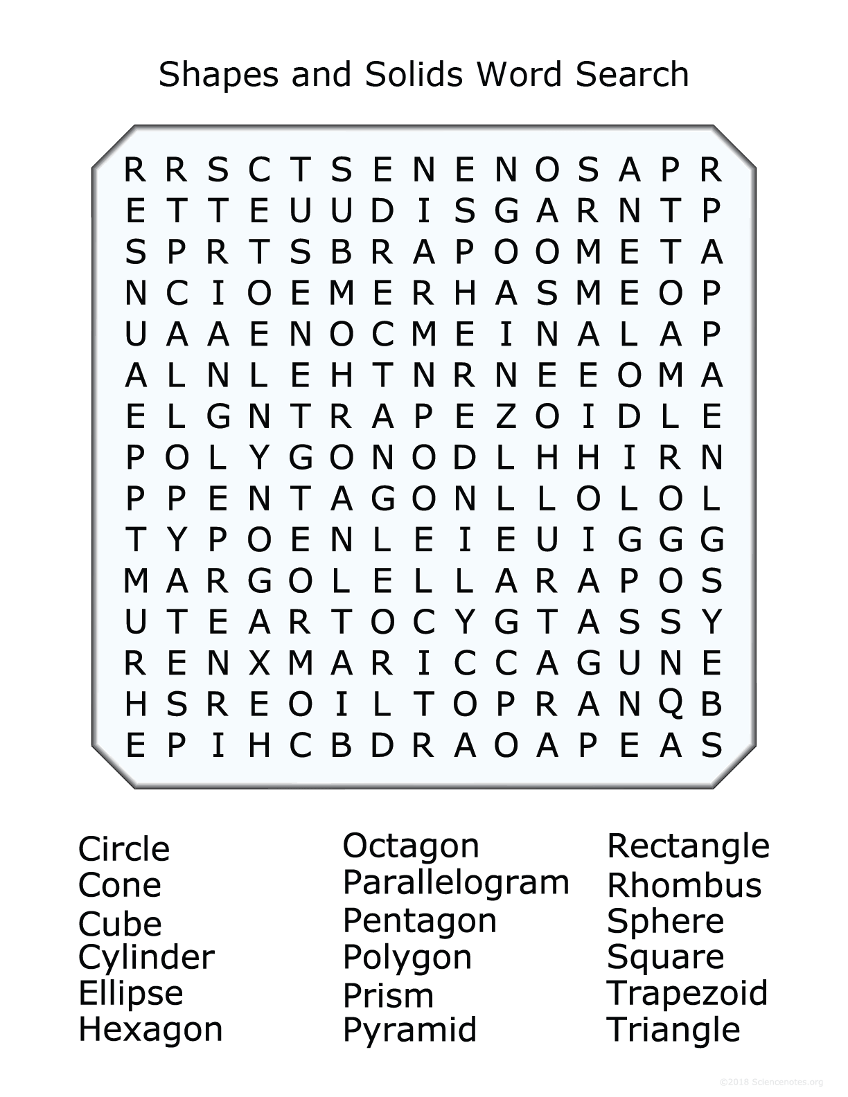 Free Circle A Word Puzzles Printable