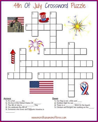 Free Printable 4th Of July Crossword Puzzles