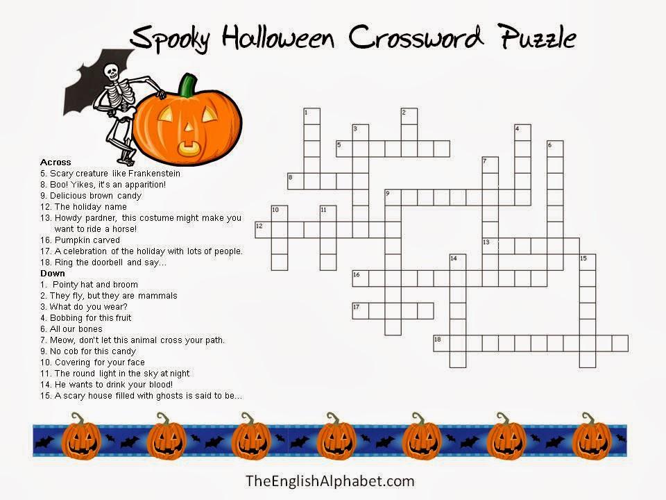 Printable Halloween Crossword Puzzles