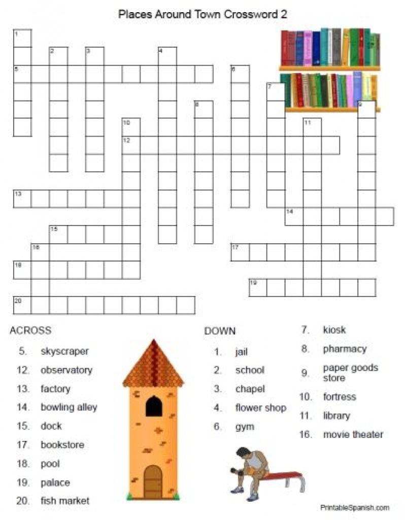 Printable Crossword Puzzles In Spanish