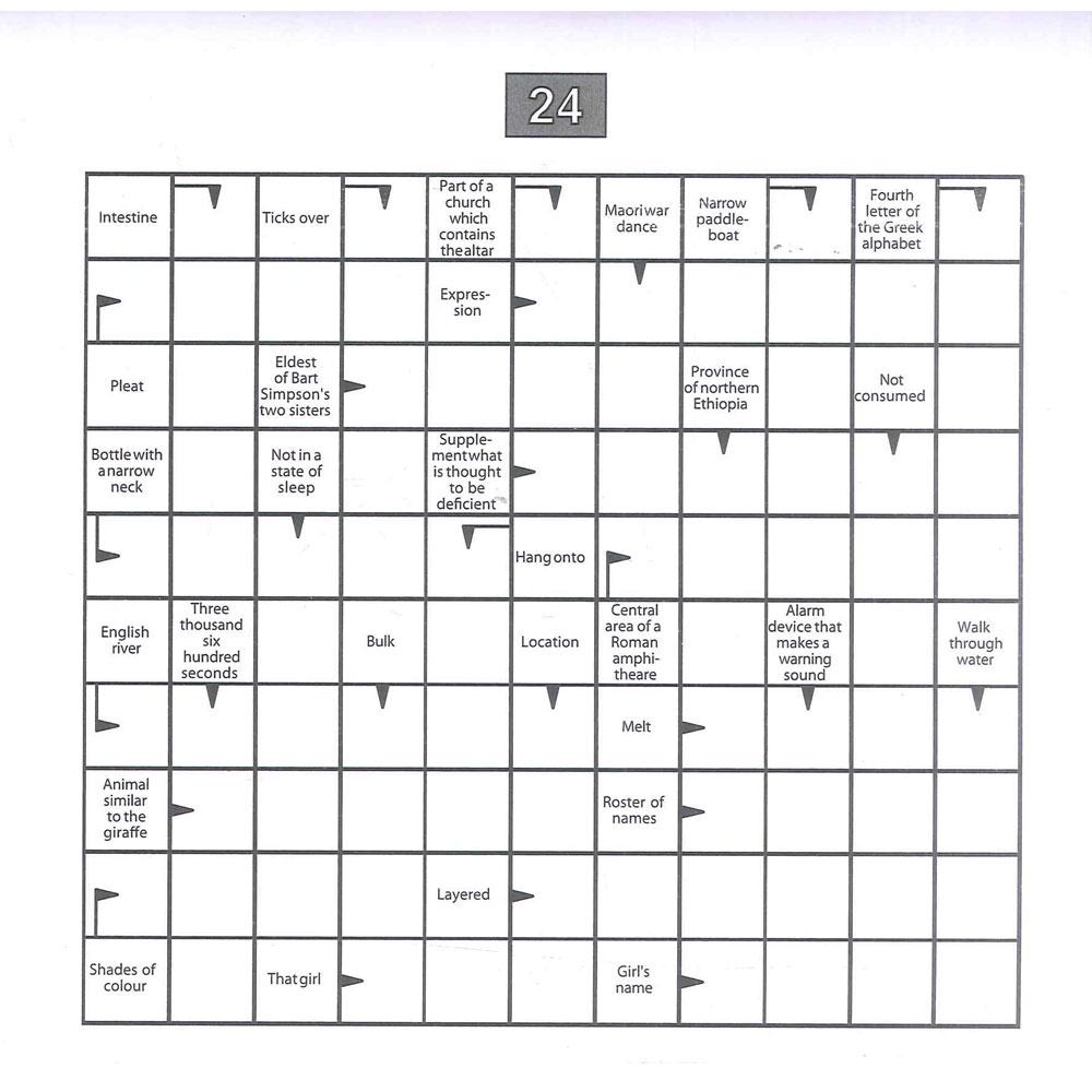 Printable Arrow Crossword Puzzles For Free