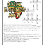 Black History Month Crossword Worksheet Answer Key Woo