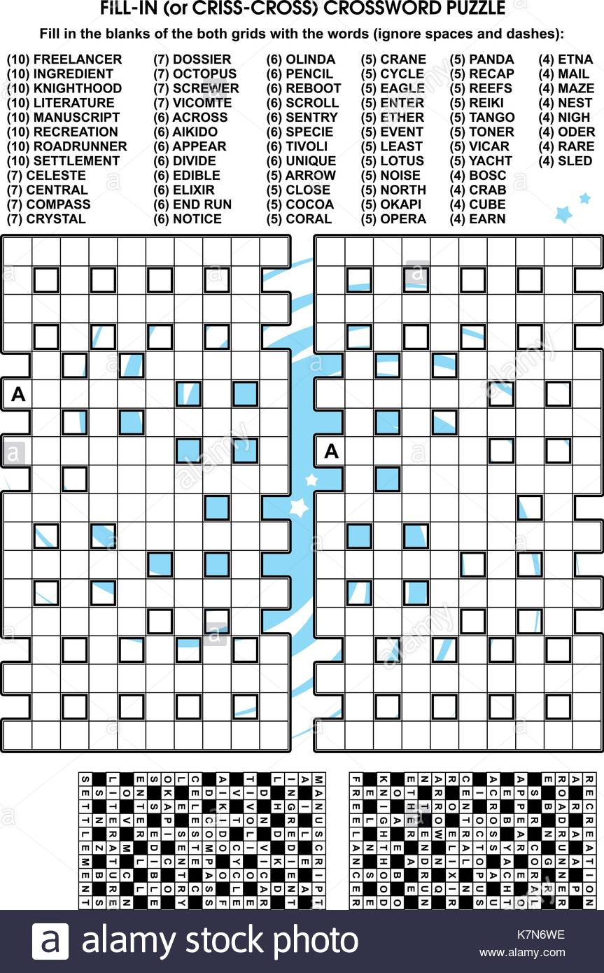 Free Printable Criss Cross Word Puzzles