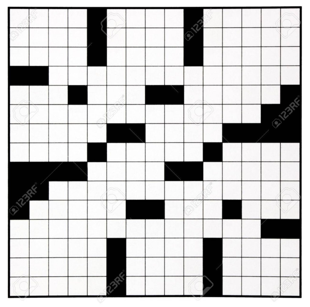 Blank Crossword Puzzle Grids Printable Printable