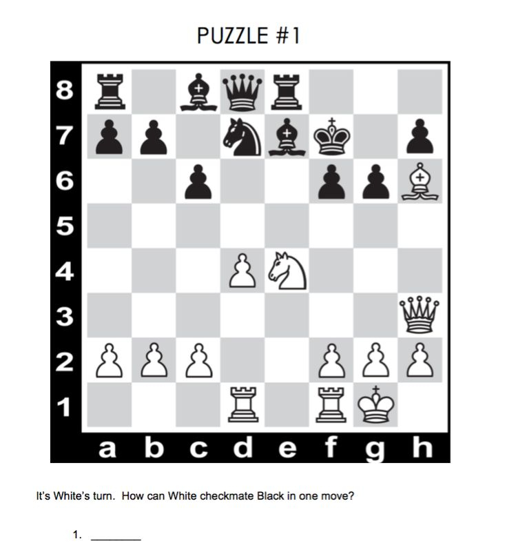Free Printable Chess Puzzles