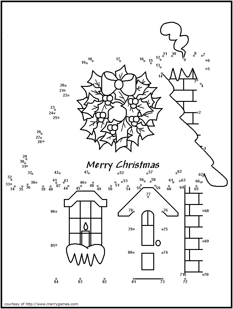 Free Printable Christmas Dot To Dot Puzzles