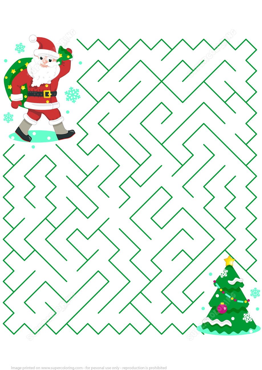 Free Printable Christmas Games And Puzzles