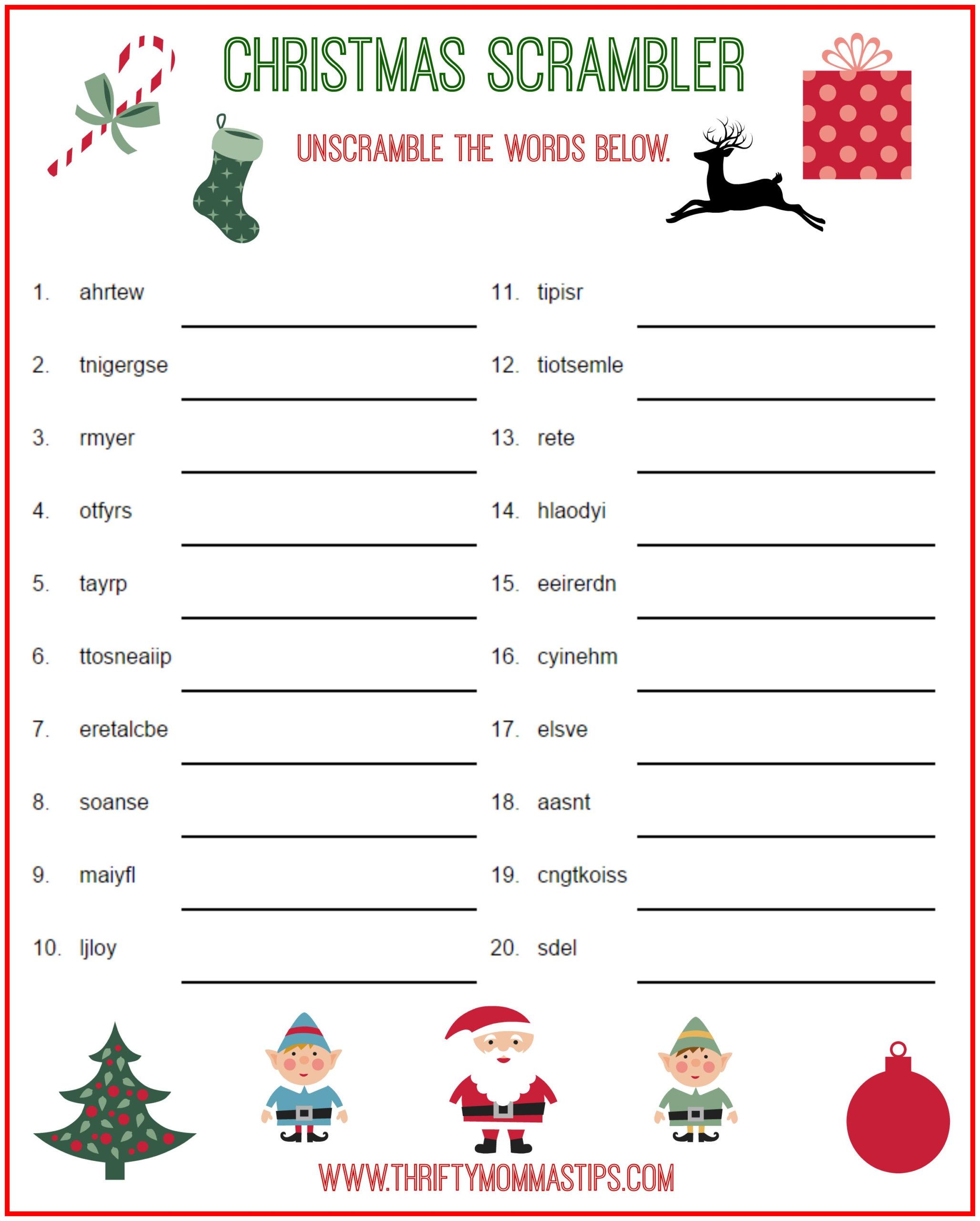 Free Easy Printable Christmas Crossword Puzzles