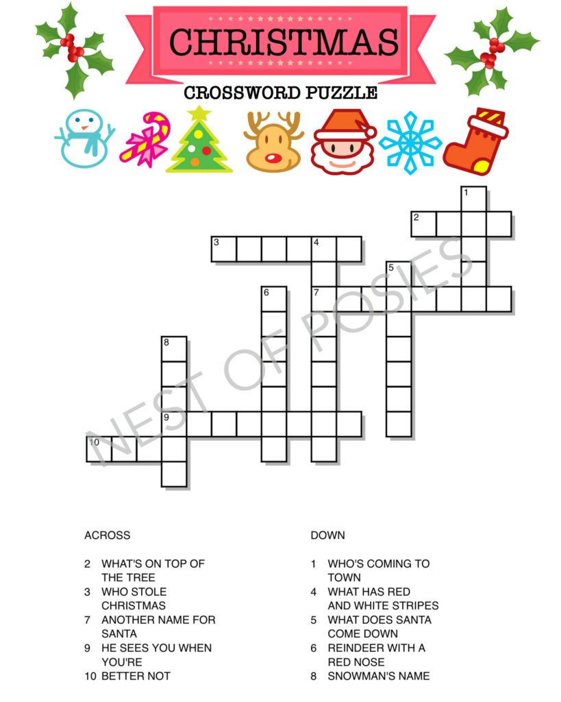 Free Printable Christmas Word Puzzles