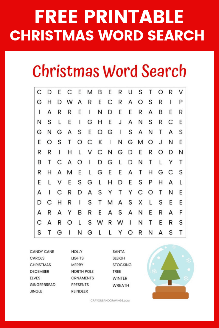 Free Printable Holiday Word Search Puzzles