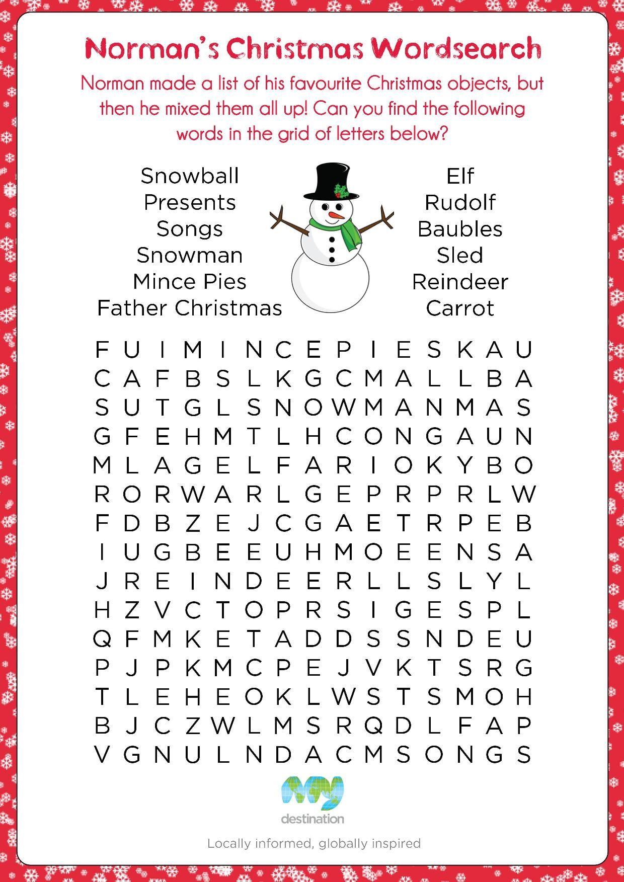 Printable Christmas Puzzles Free