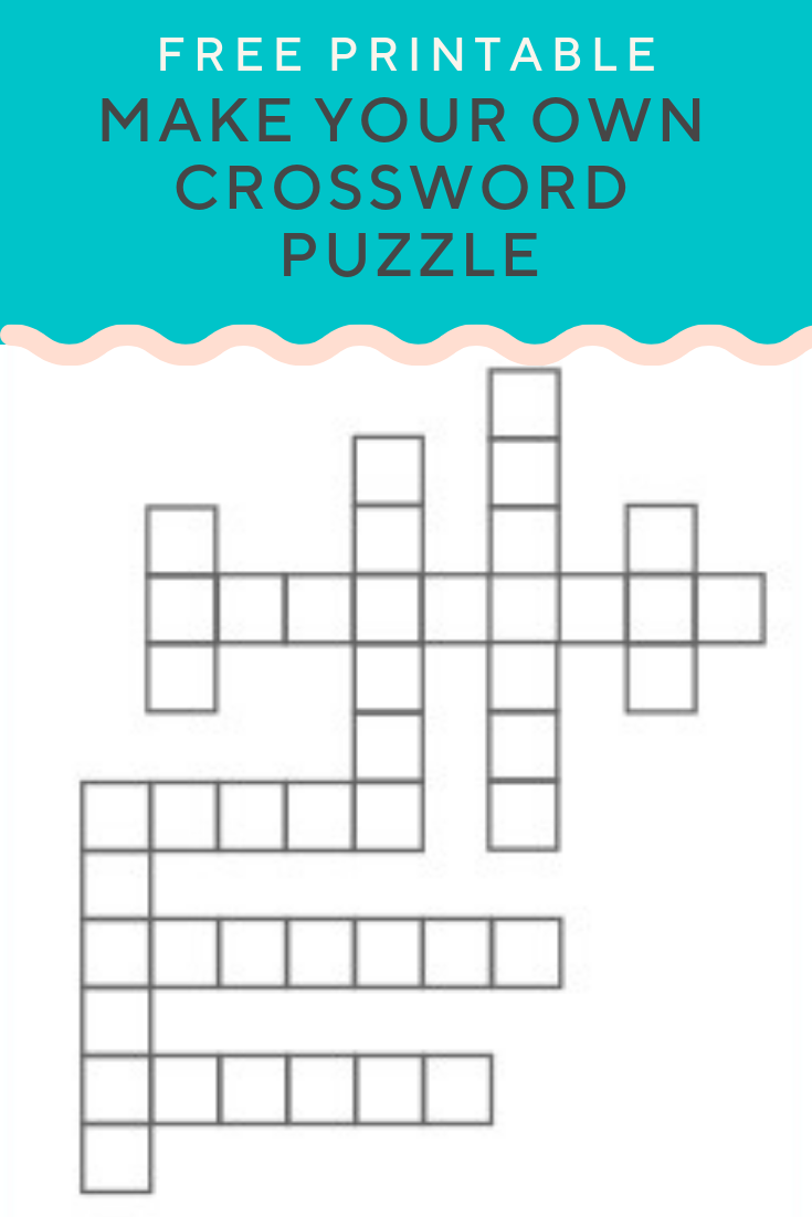 Create A Crossword Puzzle Online Free Printable