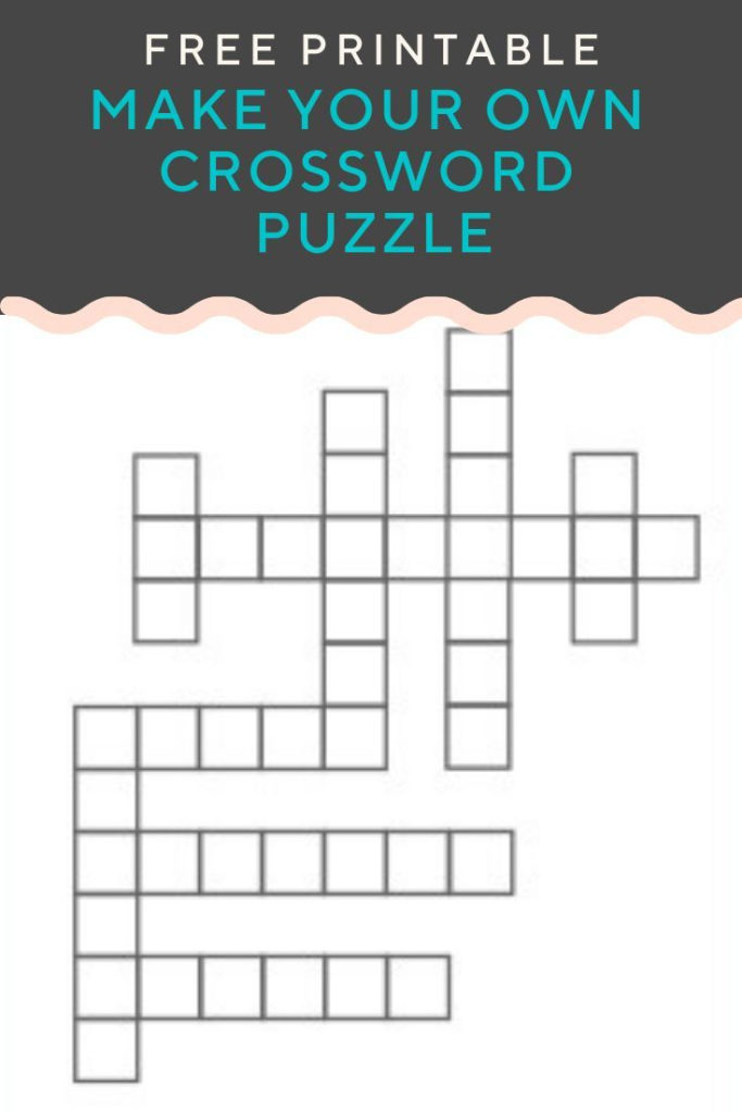 Crossword Puzzle Maker Free Printable Pdf Printable