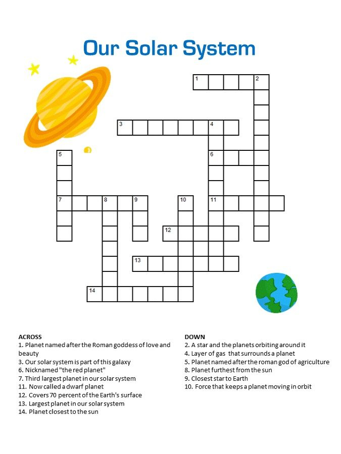 Printable Children's Crossword Puzzles