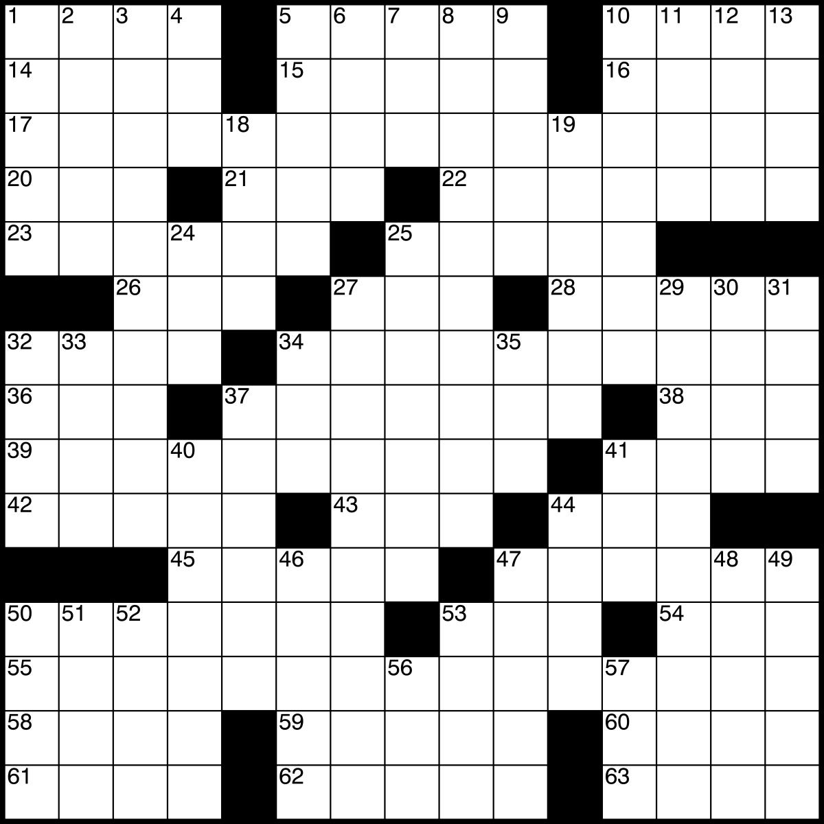 Printable Crossword # 1