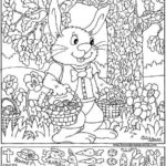 Easter Bunny Jpg 575 696 Pixels Hidden Picture Puzzles