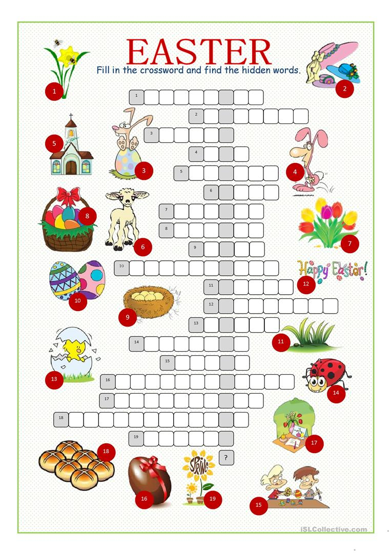 Easter Crossword Free Printable