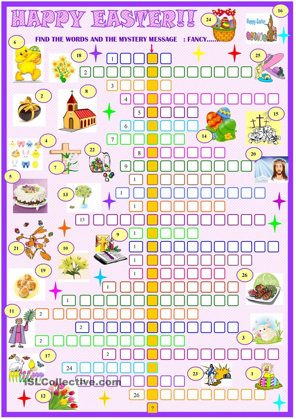 Free Printable Easter Crossword Puzzles