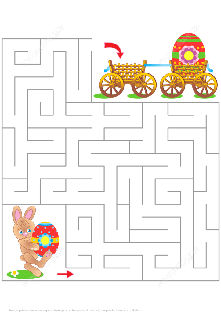 Easter Maze Puzzle Free Printable Puzzle Games