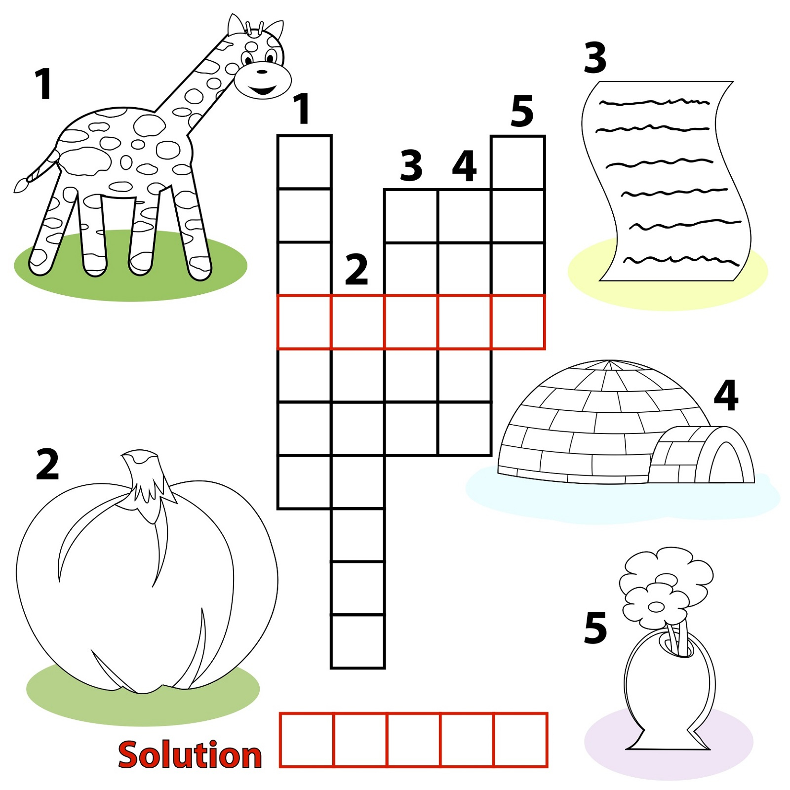 Free Easy Printable Crossword Puzzles For Kids