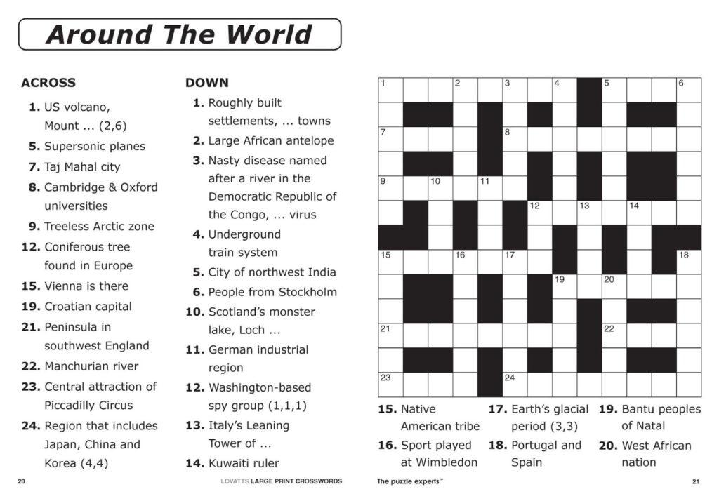 Easy Printable Crossword Puzzles Printable Crossword
