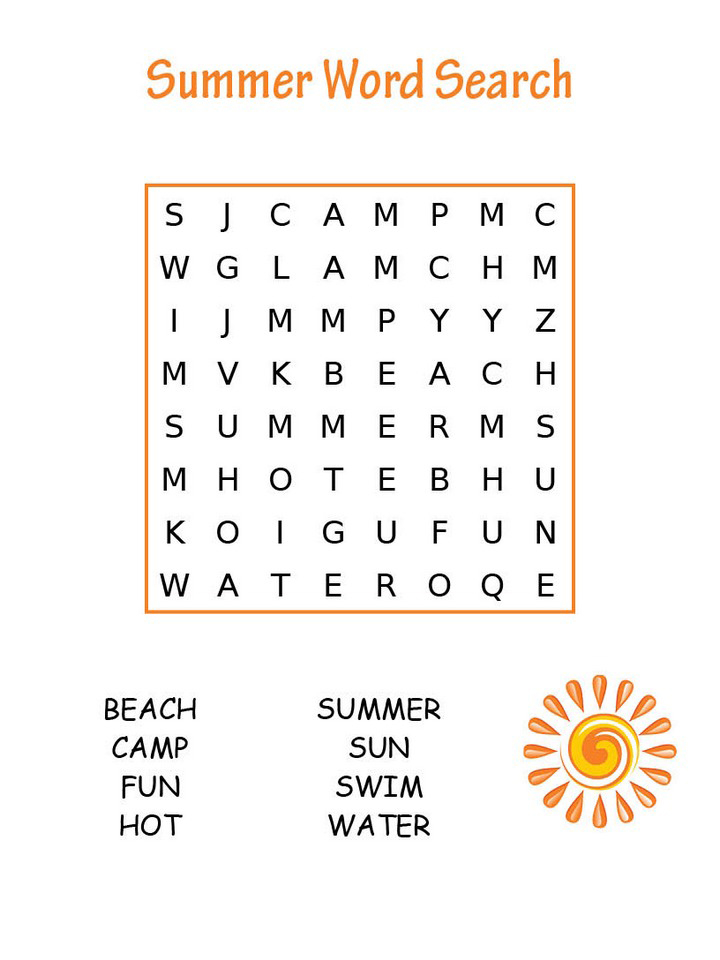 Free Printable Easy Word Search Puzzles