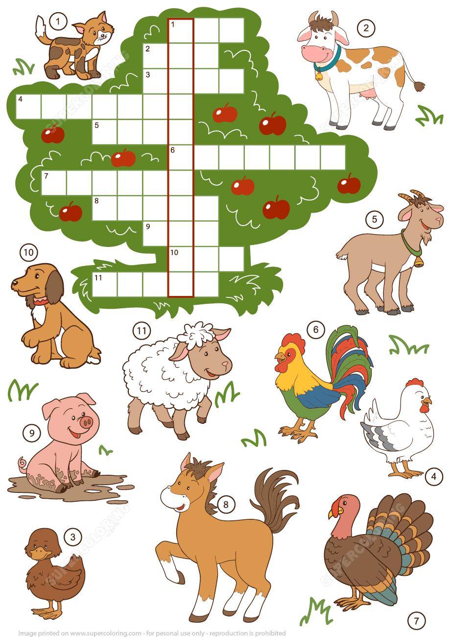 Printable Animal Crossword Puzzle