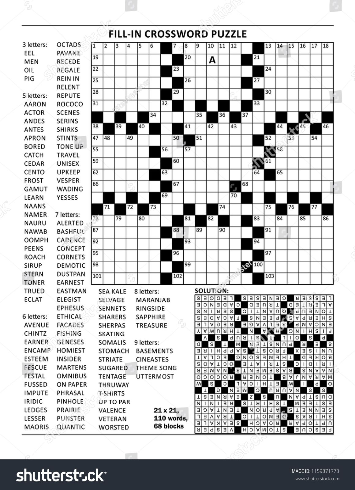 Word Fill In Puzzles Free Printable