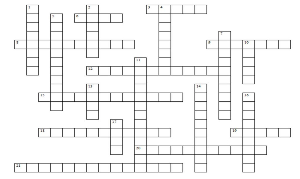 Free Crossword Puzzle Maker Printable