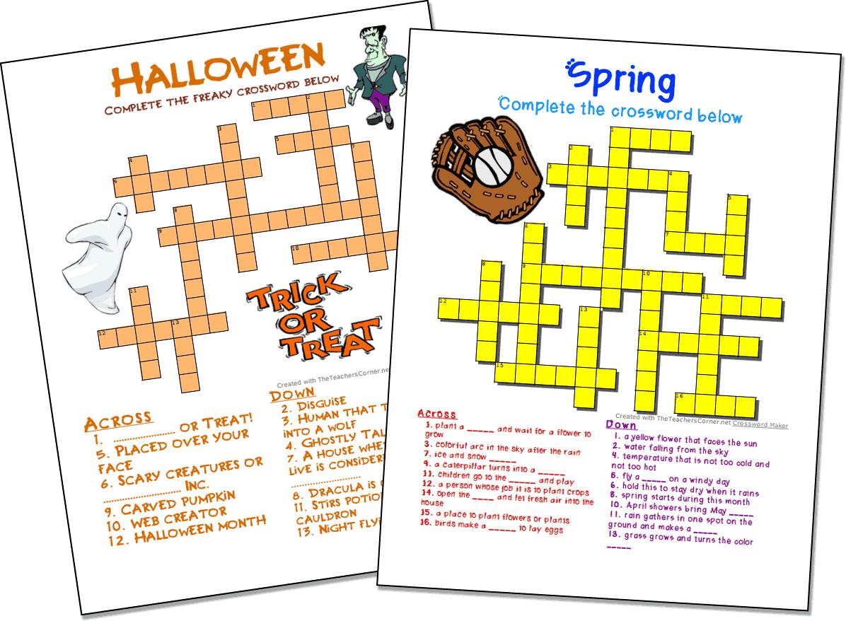 Free Crossword Puzzle Maker Printable 50 Words