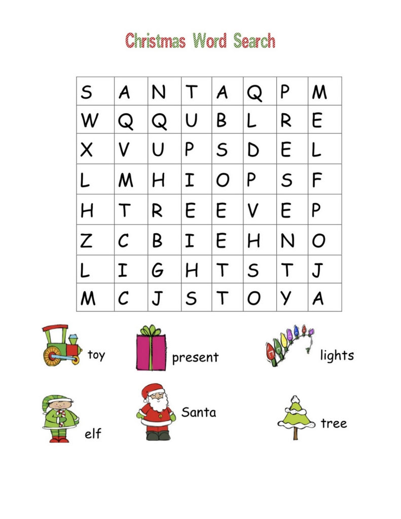 Free Easy Word Search For Kids Activity Shelter