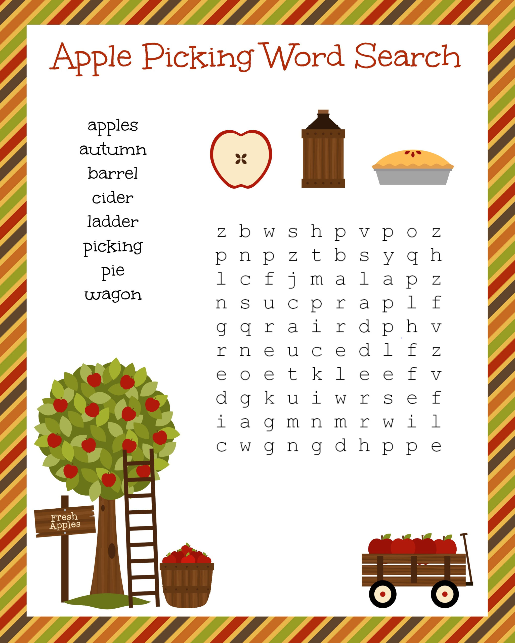 Free Printable Fall Puzzles