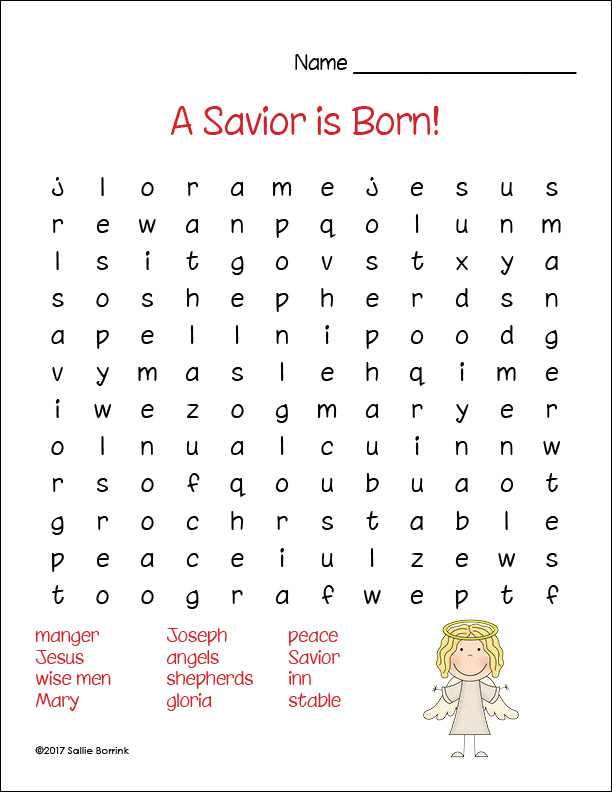 Free Printable Christian Christmas Word Search Puzzles