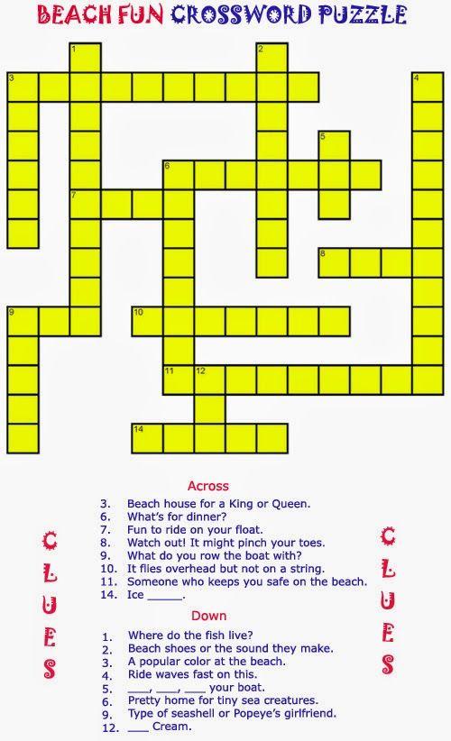 Free Printable Crosswords For The Elderly
