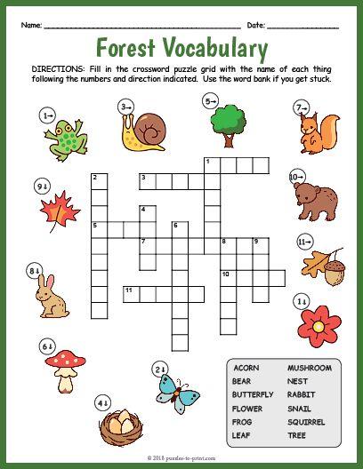 Free Printable Vocabulary Crossword Puzzles