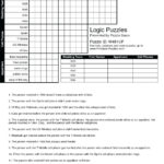 Free Printable Logic Puzzles For Middle School Free