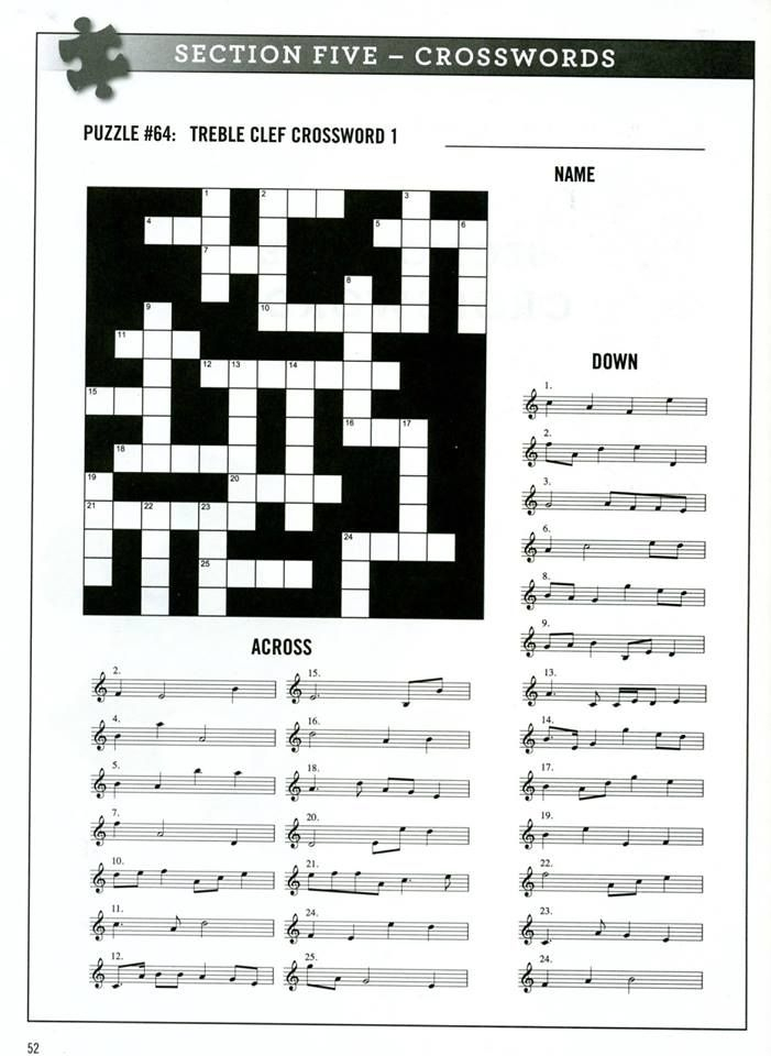 Free Printable Music Puzzles
