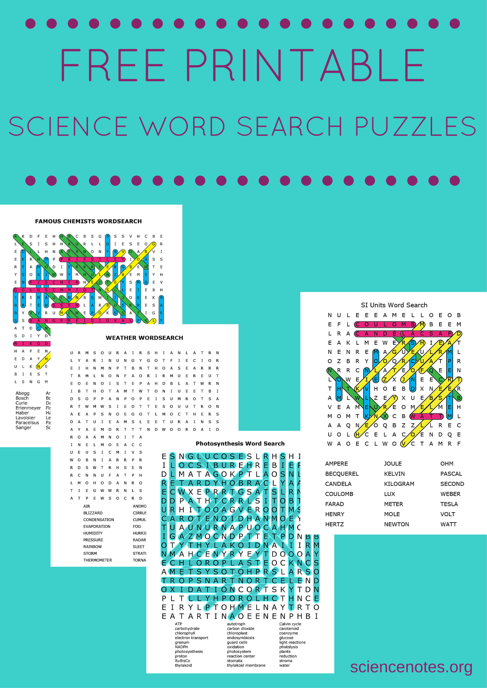 Free Printable Science Puzzles