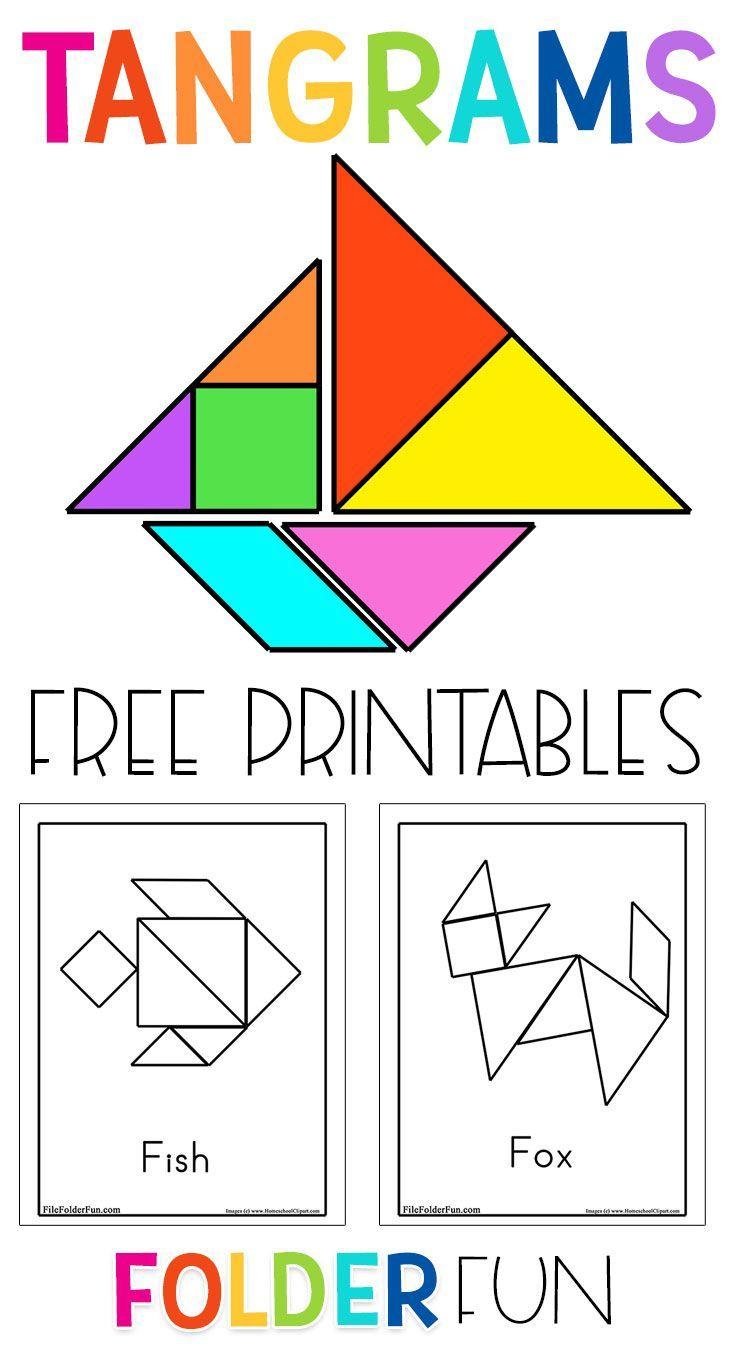 Printable Tangram Puzzles Free