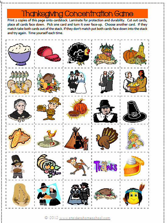 Free Printable Thanksgiving Games And Puzzles