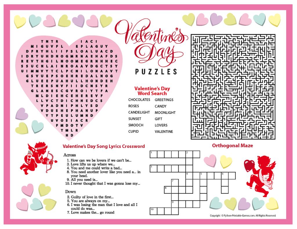 Free Printable Valentines Day Puzzles