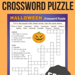 Halloween Crossword Puzzle Printable 3Rd Grade Printable