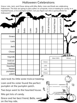 Free Printable Halloween Logic Puzzles