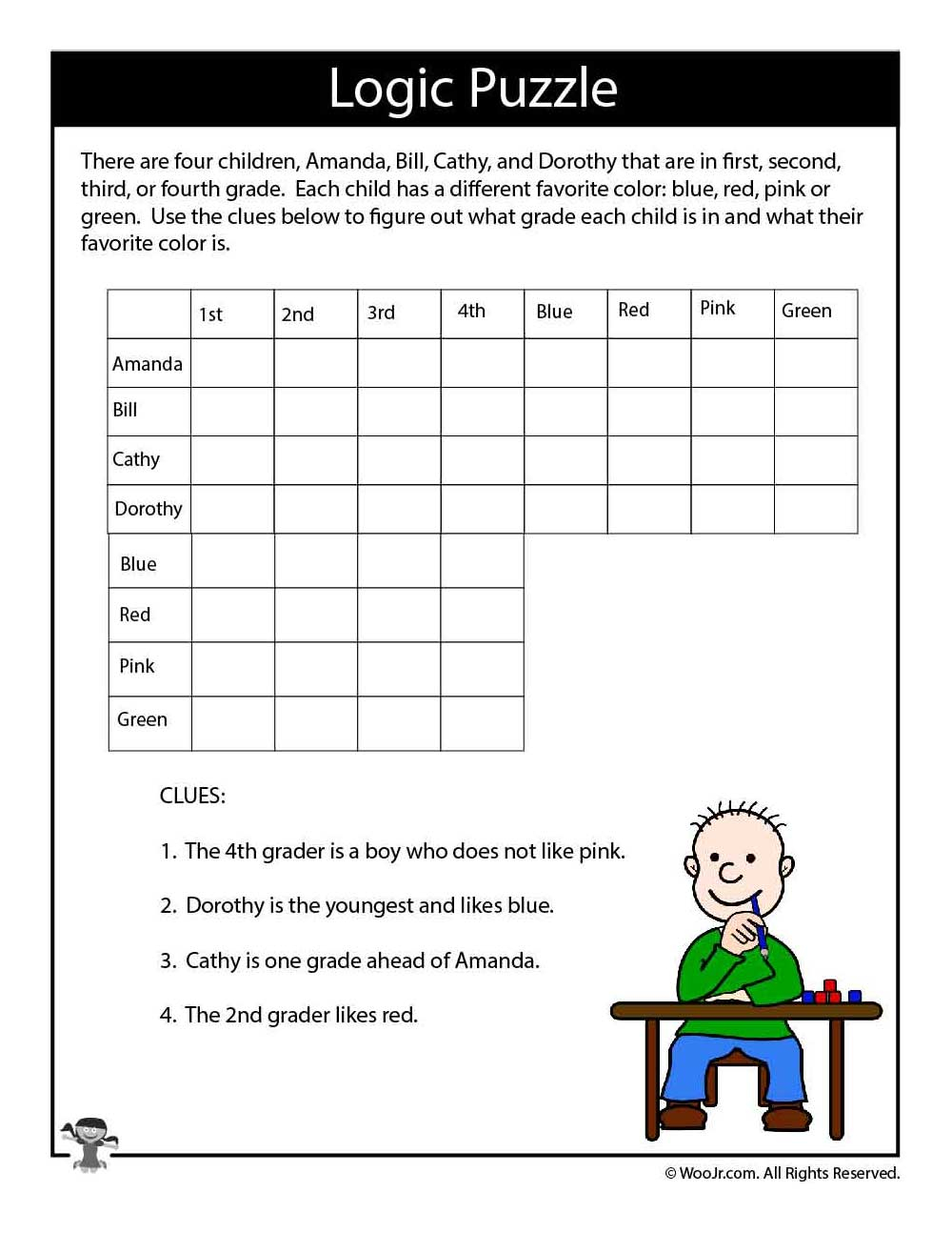 Free Printable Logic Puzzles For High School