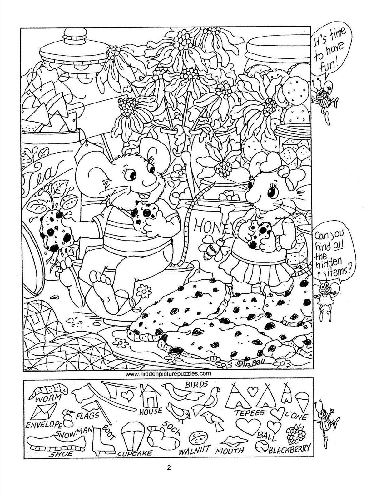 Free Printable Seek N Find Puzzles