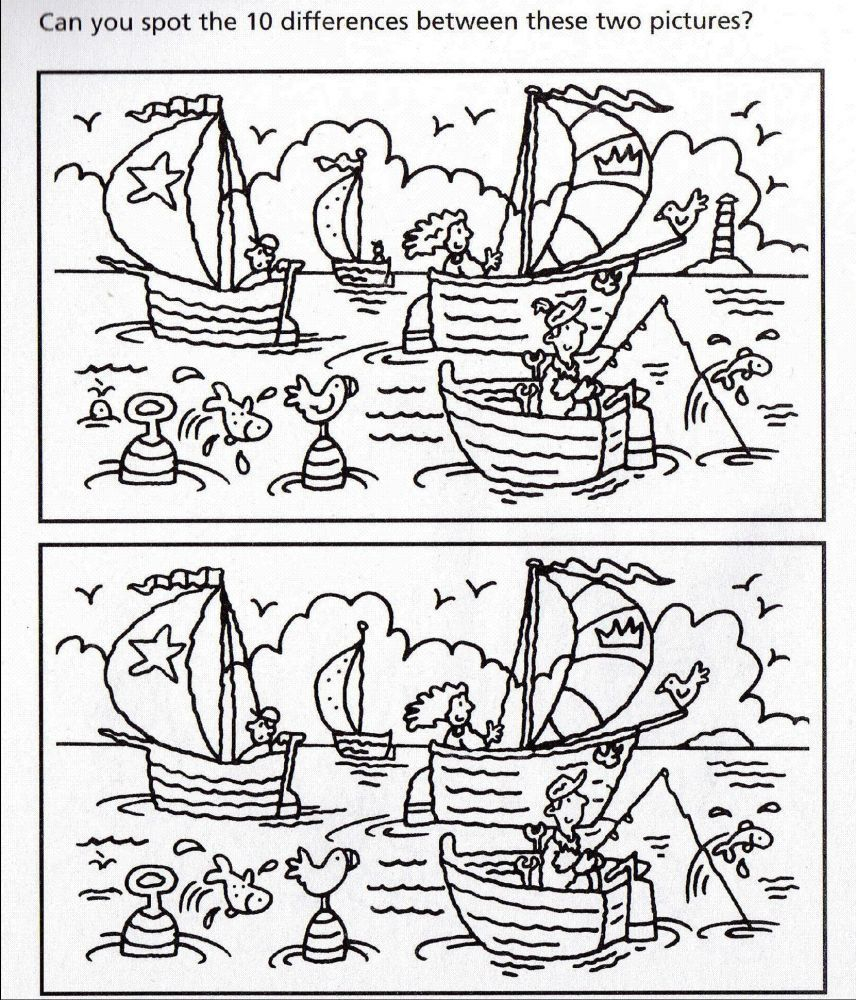 Free Printable Spot The Difference Puzzles For Adults