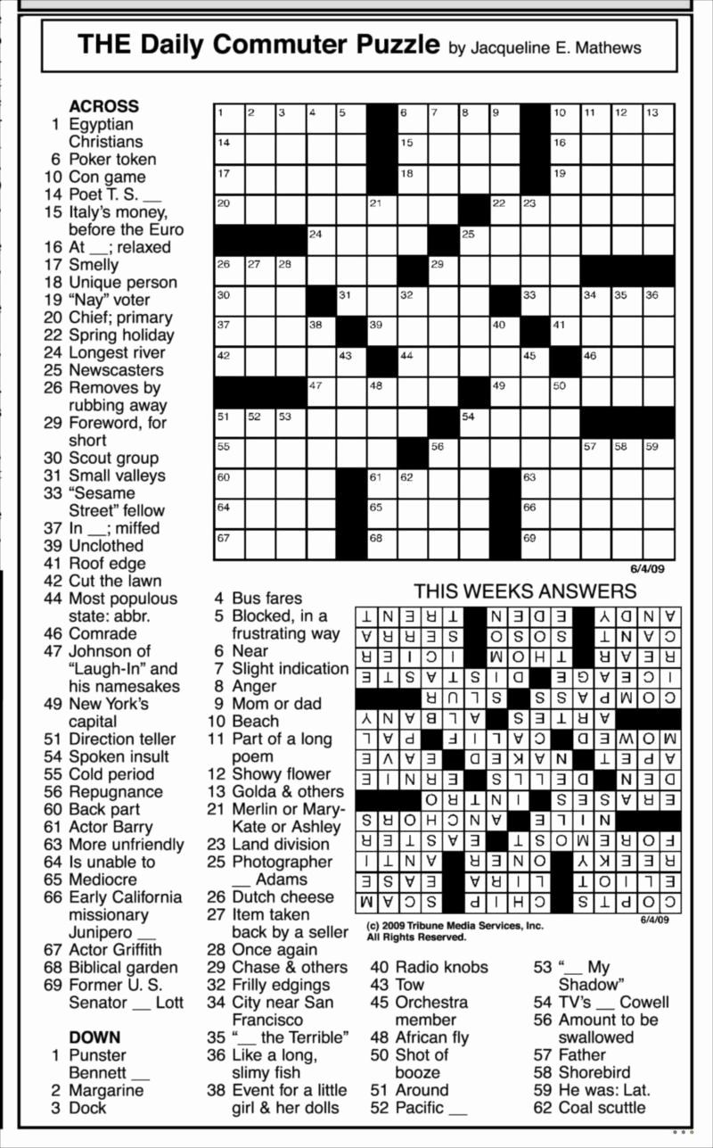 Jacqueline E Mathews Printable Crossword Puzzles