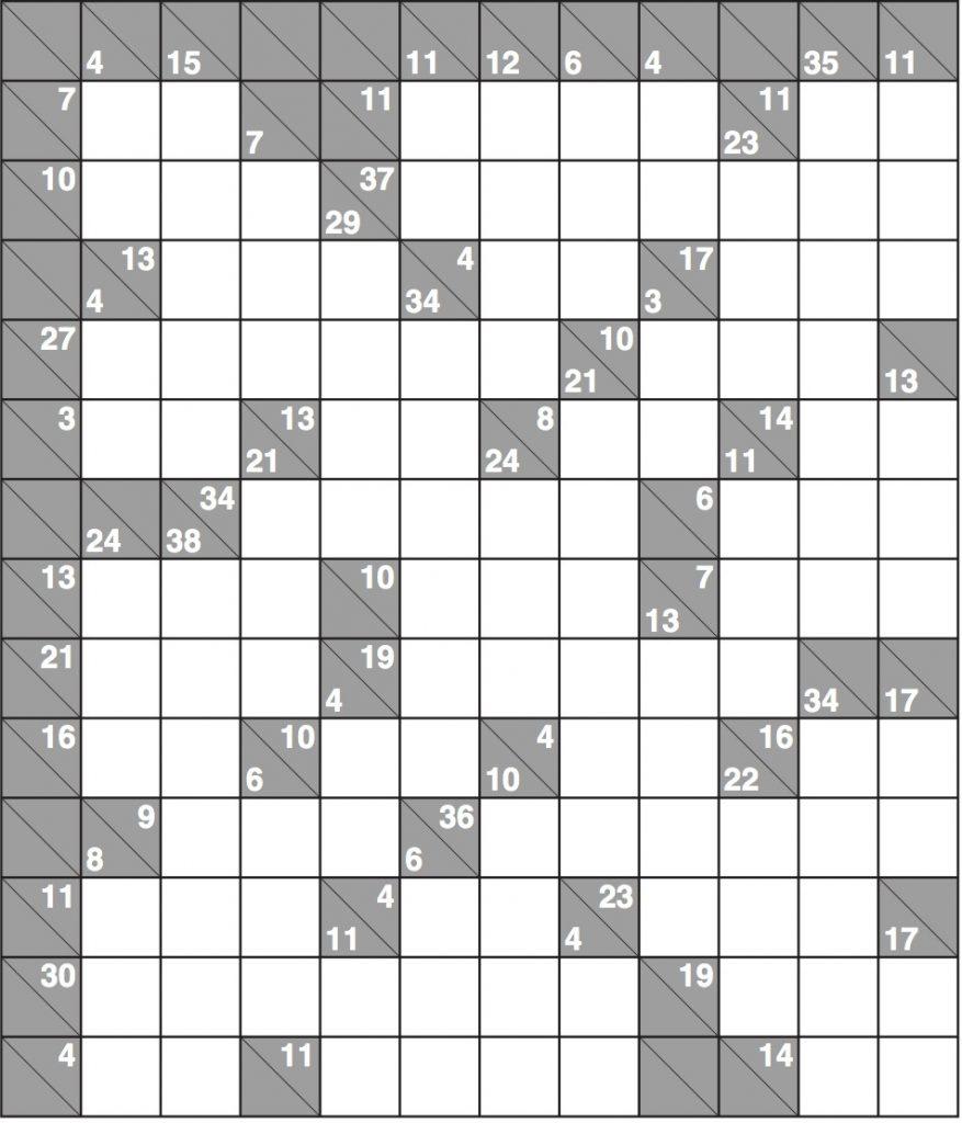 Free Printable Kakuro Puzzles