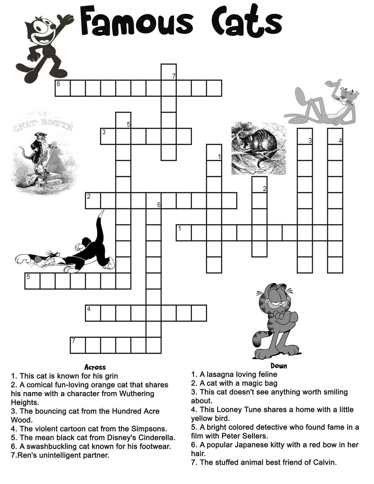 Free Printable Children's Crossword Puzzles